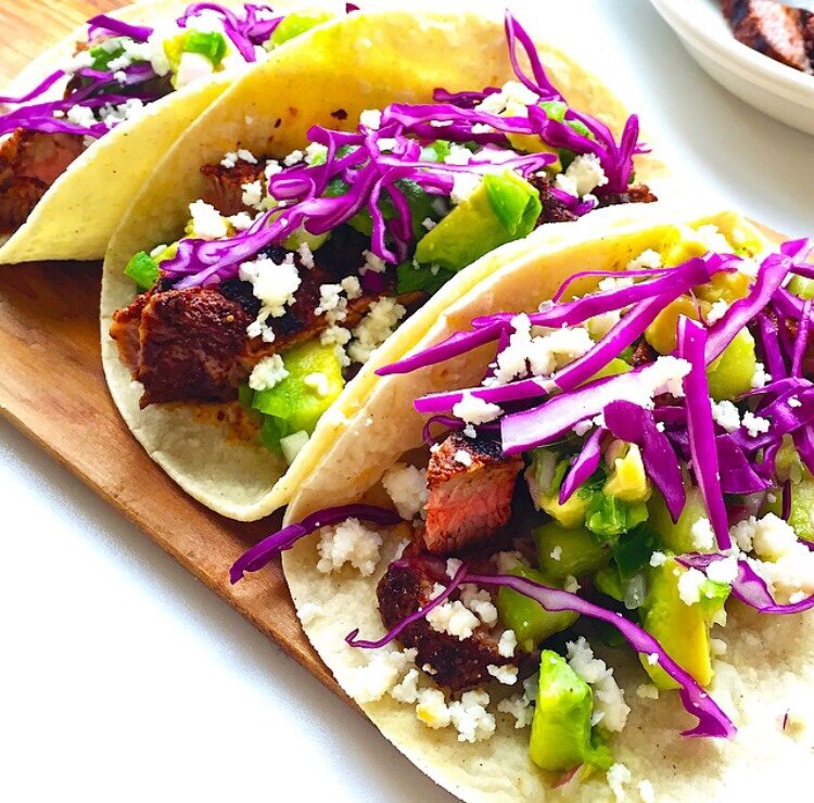 chili-rubbed steak tacos - kelly's ambitious kitchen.